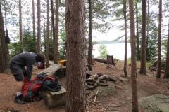 Campsite on Burnt Island Lake, Algonquin Park