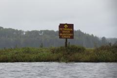 Signage in McIntosh Marsh, Algonquin Park