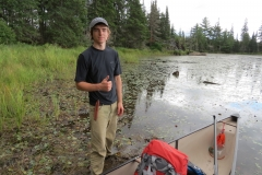 Finished Portage, Standing in the Mud on Tom Thompson Lake, Algonquin Park