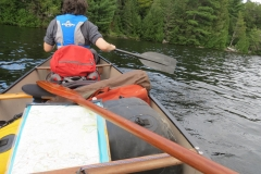 Map and Paddles out on Tom Thompson Lake, Algonquin Park